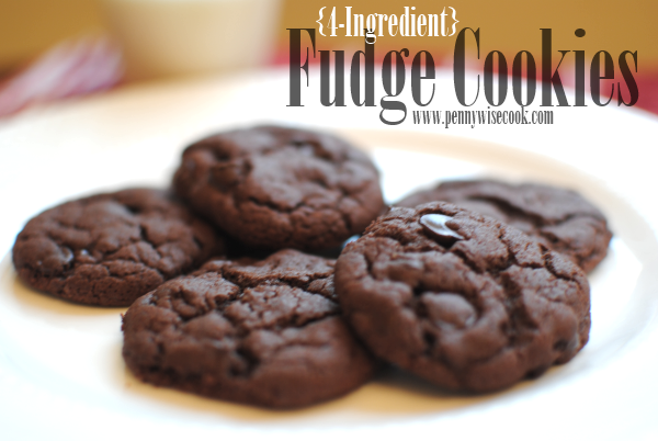 Fudge Cookies 2 4 Ingredient Fudge Cookies