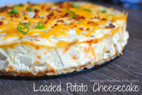 Loaded Potato Cheesecake 13 Thanksgiving Side Dish Ideas