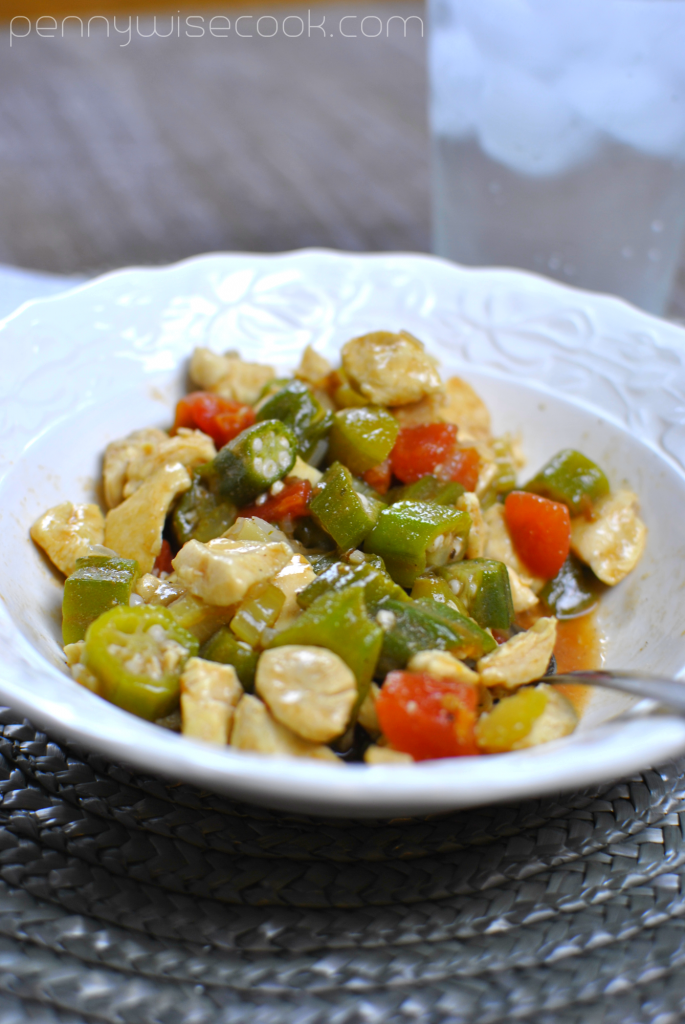Chicken and Okra Skillet 2 685x1024 Chicken and Okra Skillet
