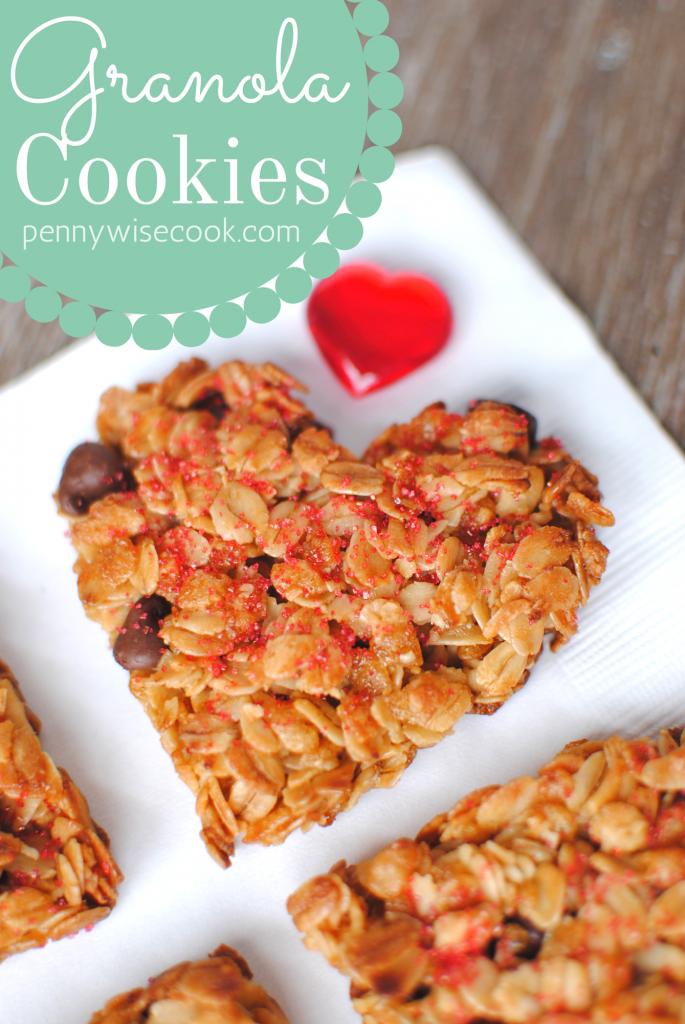 GranolaCookies 685x1024 Valentines Day Granola Cookies